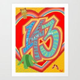 143 - I Love You Neighbor - Mister Rogers Neighborhood Inspired Art Print