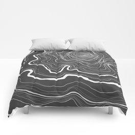 Tree Rings of Grey Comforters