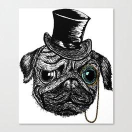 Monsieur Pug Canvas Print