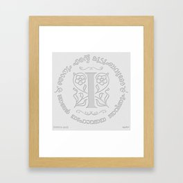 Joshua 24:15 - (Letterpress) Monogram I Framed Art Print