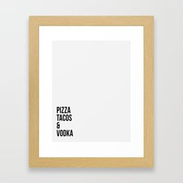 Pizza and Tacos Framed Art Print