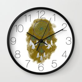 Classic Dreamcatcher 2: Sand background Wall Clock