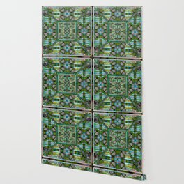 no.121 green and blue pattern Wallpaper