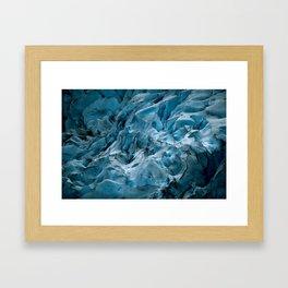 Blue Ice Glacier in Norway - Landscape Photography Framed Art Print