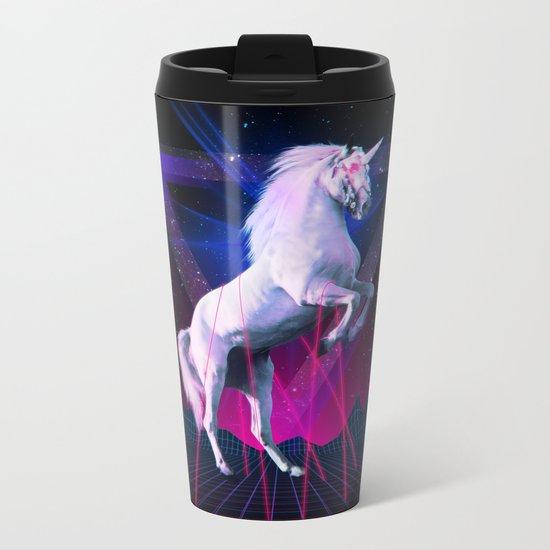 The last laser unicorn Metal Travel Mug