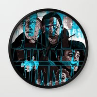 blade runner Wall Clocks featuring Blade runner by David Amblard