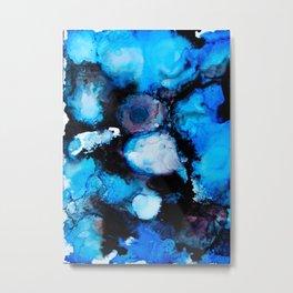 Black & Blue Metal Print