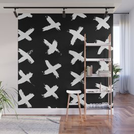 The X White on Black Wall Mural