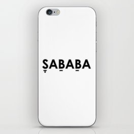 Sababa with punctuation iPhone Skin