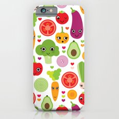 Veggie friends and smiley food Slim Case iPhone 6