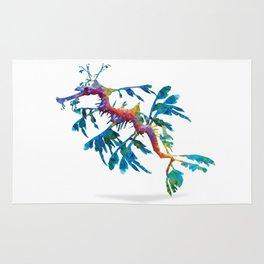 Geometric Abstract Weedy Sea Dragon Rug