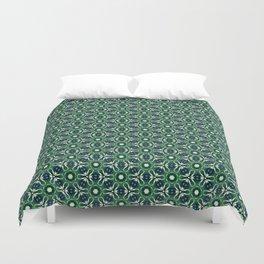 Green Cells Duvet Cover