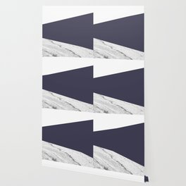 Marble Eclipse blue Geometry Wallpaper