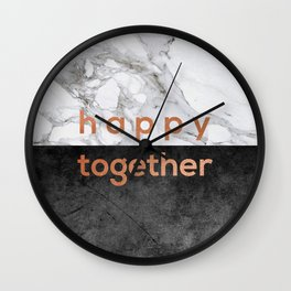 Happy Together Copper Wall Clock