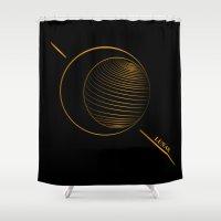 lunar Shower Curtains featuring Lunar  by Cletomckillop