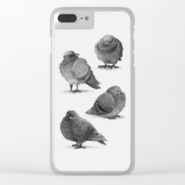 Pirate Pigeon & Crew Clear iPhone Case