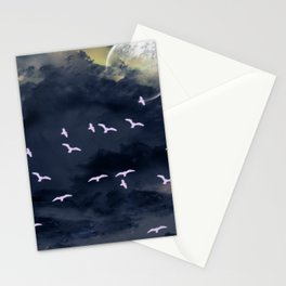 Flying under the moonlight Stationery Cards