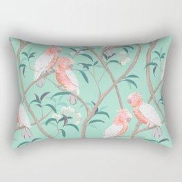 Galah Tropical Birds in Flowering Gumtrees - Australian Wildlife Rectangular Pillow