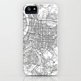 Taipei White Map iPhone Case