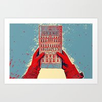 budapest hotel Art Prints featuring GRAND BUDAPEST HOTEL COLOR by Oleol