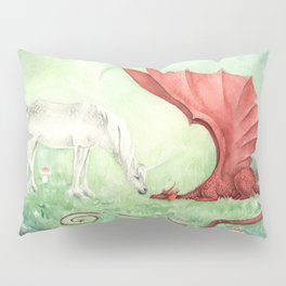 Unicorn and Dragon Pillow Sham