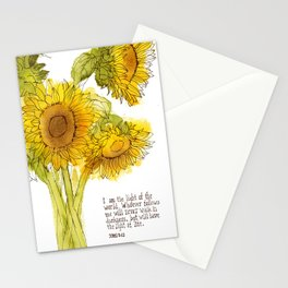 Light of the World - Sunflowers Stationery Cards
