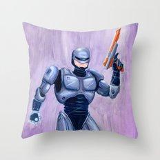 ROBcop Throw Pillow