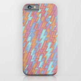 Dark Pastel Lightning iPhone Case