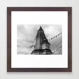 Temple Nepal Framed Art Print