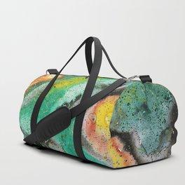 Green orange galaxy Duffle Bag