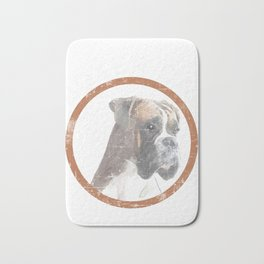 "A Nice Boxing Tee For Boxers Saying ""Boxer Dad"" T-shirt Design Dog Pug Bulldog Boxer Ring Gloves Bath Mat"