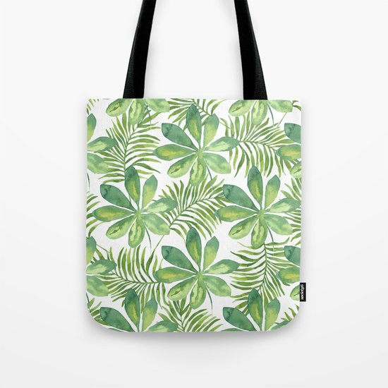 Tropical Branches Pattern 01 Tote Bag