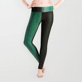 Green Leaf Overlay Leggings