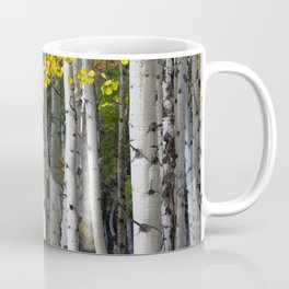 Yellow, Black, and White // Aspen Trees in Crested Butte Coffee Mug