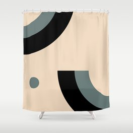 Gray Pink Black Shower Curtain