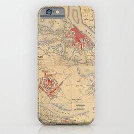 Map Of Hanoi 1895 iPhone Case