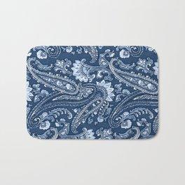 Blue indigo paisley Bath Mat
