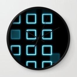 Neon Cube City Wall Clock