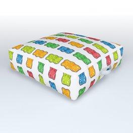 Rainbow Gummy Bears Outdoor Floor Cushion