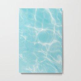 Bright blue pool Metal Print