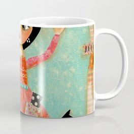 Tarot Card Reader mixed media painting by TASCHA Coffee Mug