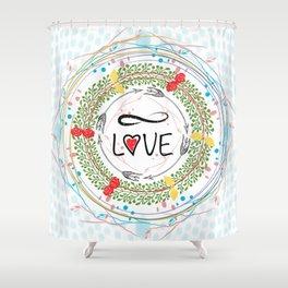 Infinite love Shower Curtain