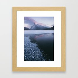 Sunset at Vermillion Lakes Framed Art Print