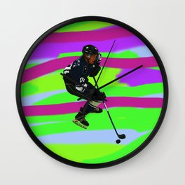 Taking Control- Ice Hockey Player & Puck Wall Clock