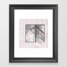 Pink and Black Framed Art Print