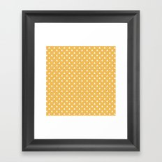 mustard yellow triangle pattern Framed Art Print