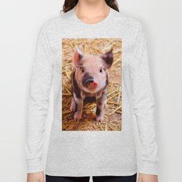 Cute Baby Piglet Farm Animals Babies Long Sleeve T-shirt