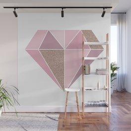 Shades of rose gold diamond Wall Mural