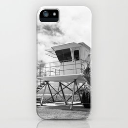 Lifeguard tower in Kauai, Hawaii iPhone Case
