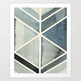 Geometric Watercolor Print Art Print